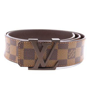 Louis Vuitton Accessories - Louis Vuitton Damier Ebene Lv Logo Initials Belt